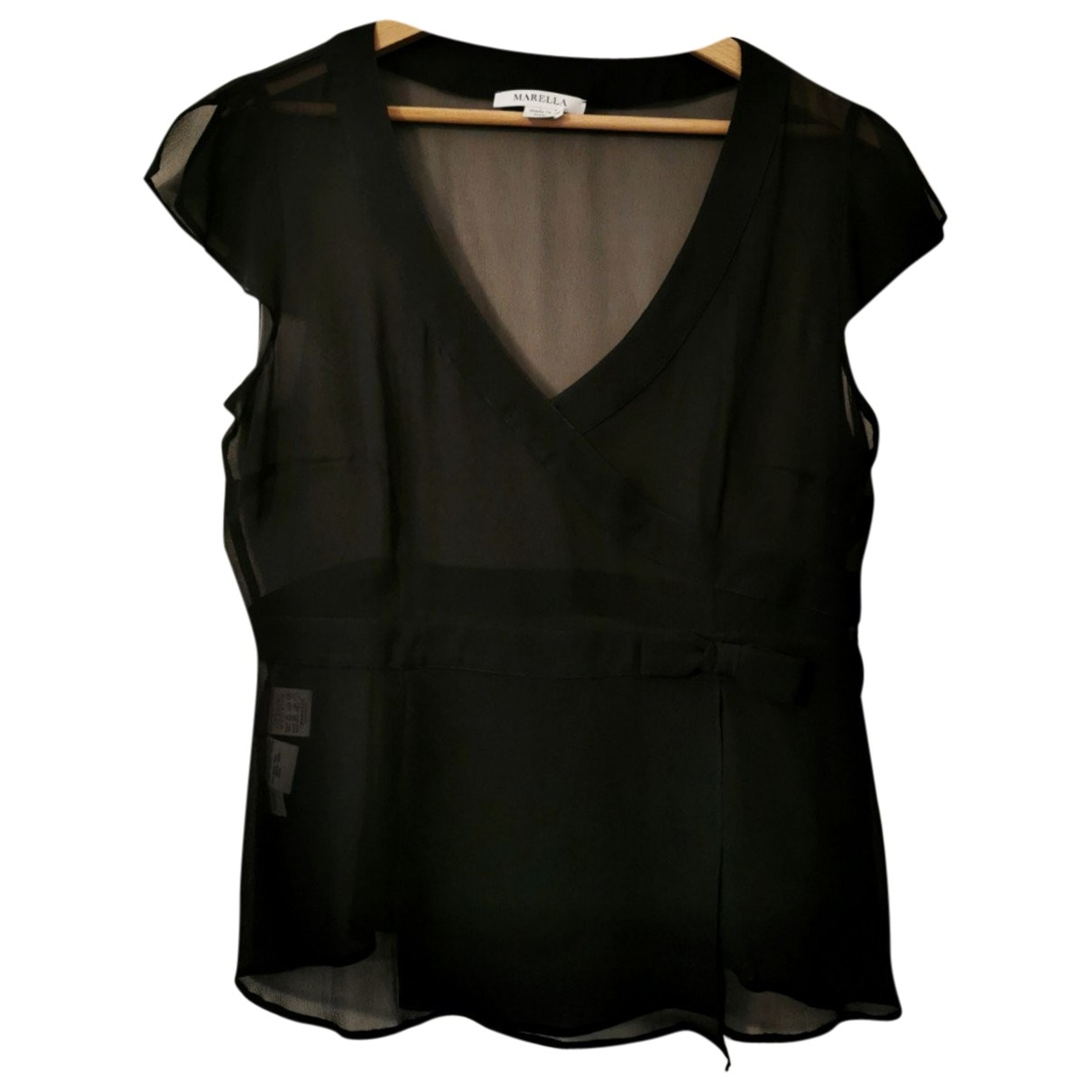 Marella \N Top in  Schwarz Seide