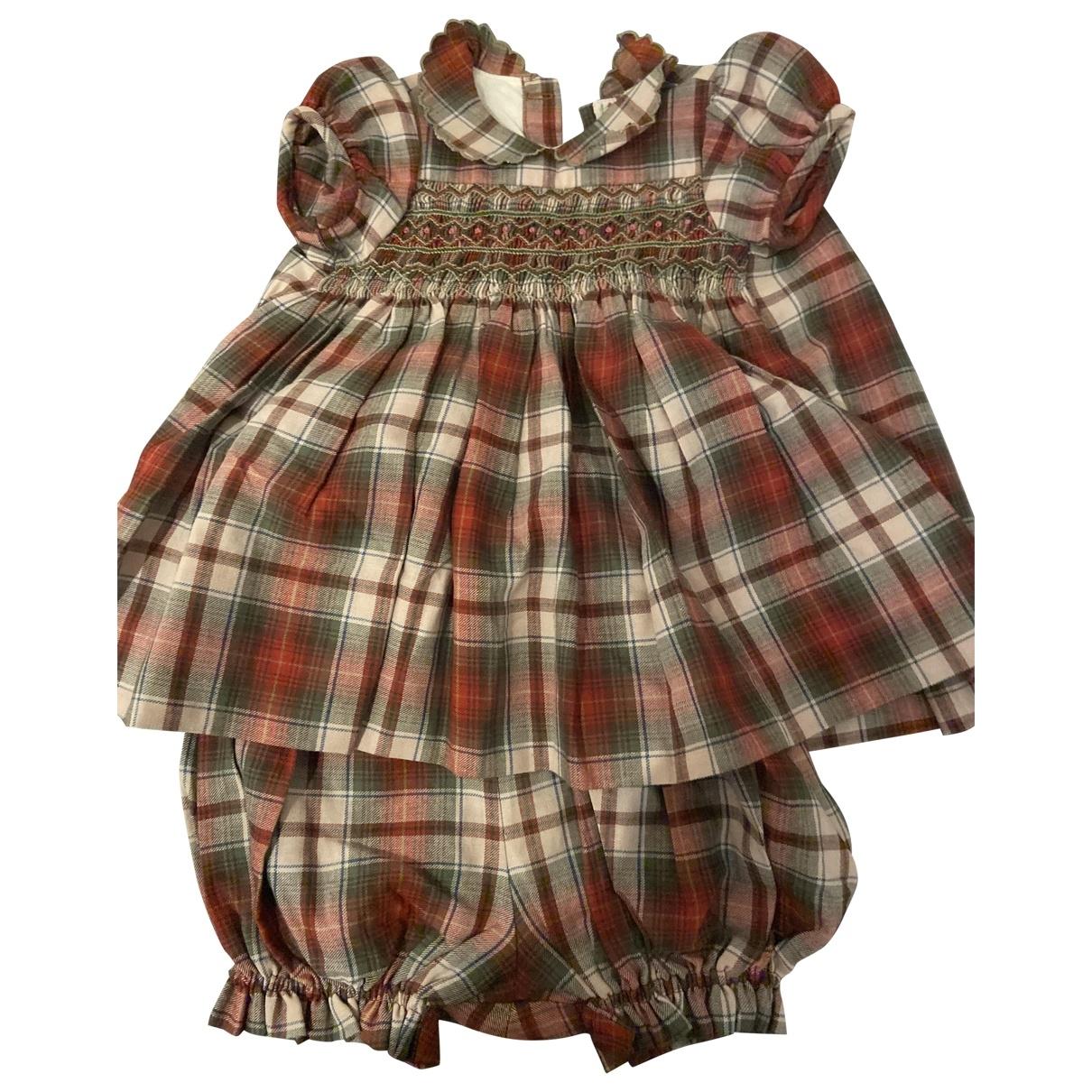 Bonpoint - Robe    pour enfant en coton - bordeaux