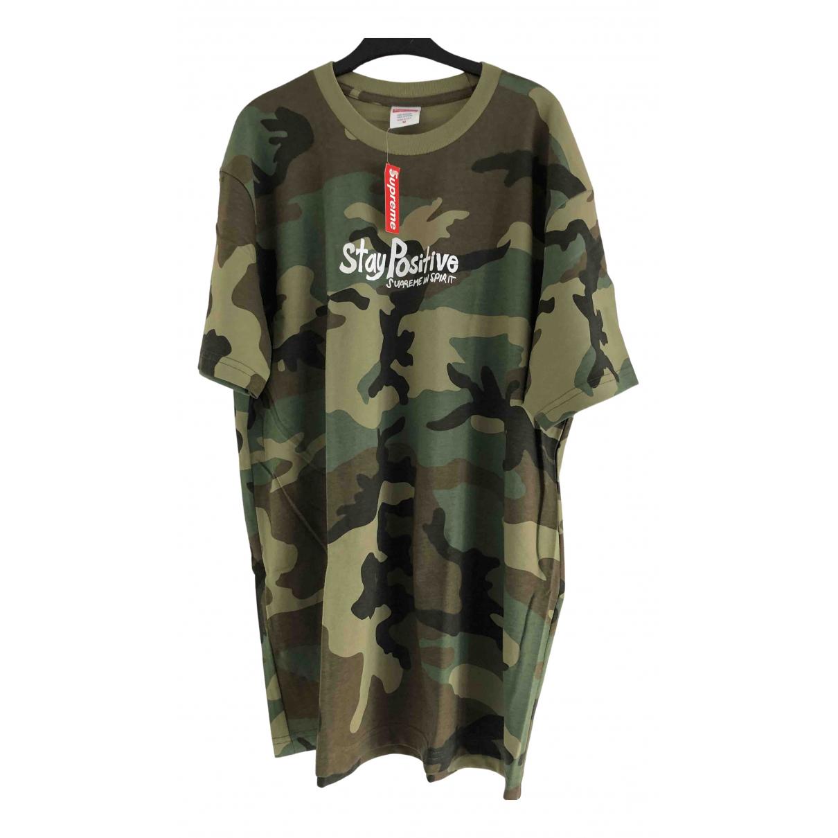 Supreme - Tee shirts   pour homme en coton - kaki