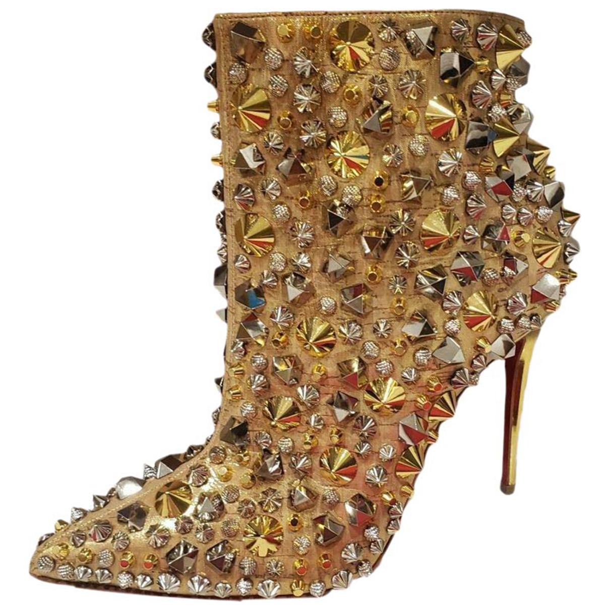 Christian Louboutin - Boots So Kate Booty pour femme en a paillettes - dore