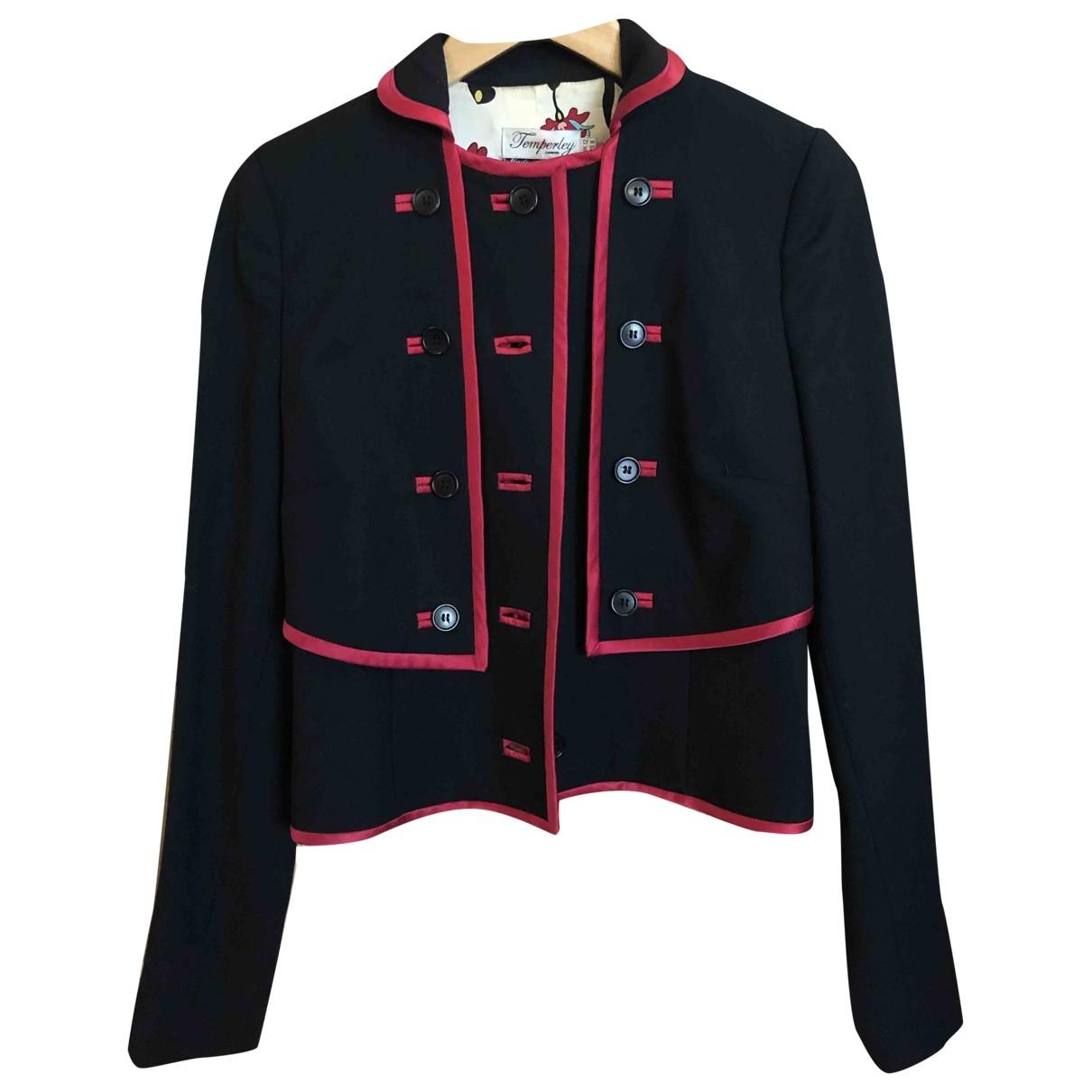 Temperley London - Veste   pour femme en laine - noir