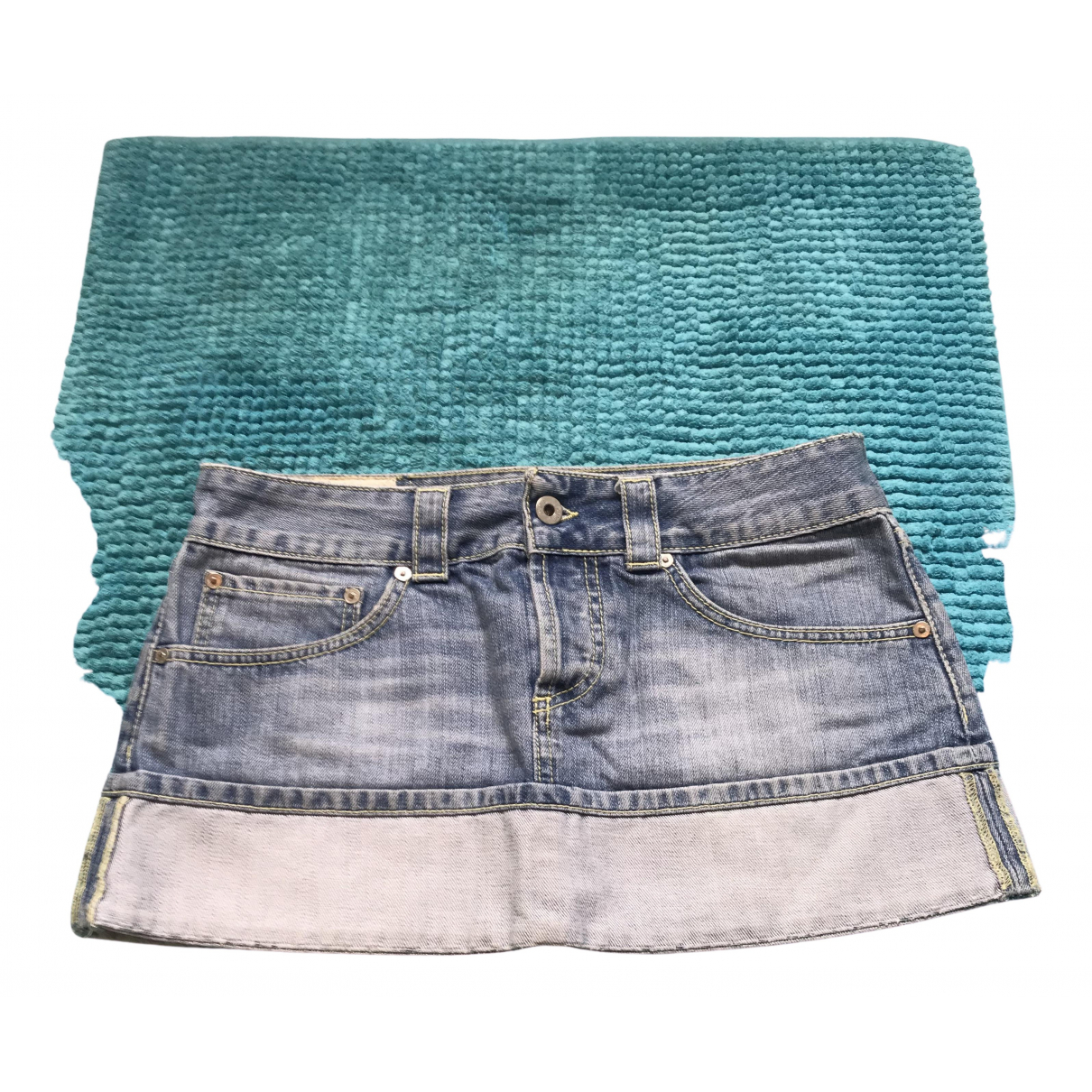 Dondup \N Blue Denim - Jeans skirt for Women 42 IT