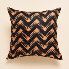Halloween Chevron Pattern Cushion Cover Without Filler