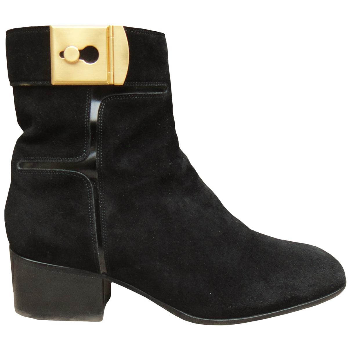 Sartore - Boots   pour femme en suede - noir
