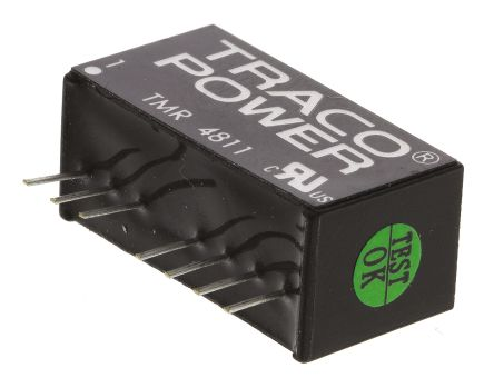 TRACOPOWER TMR 2 2W Isolated DC-DC Converter Through Hole, Voltage in 36 → 75 V dc, Voltage out 5V dc