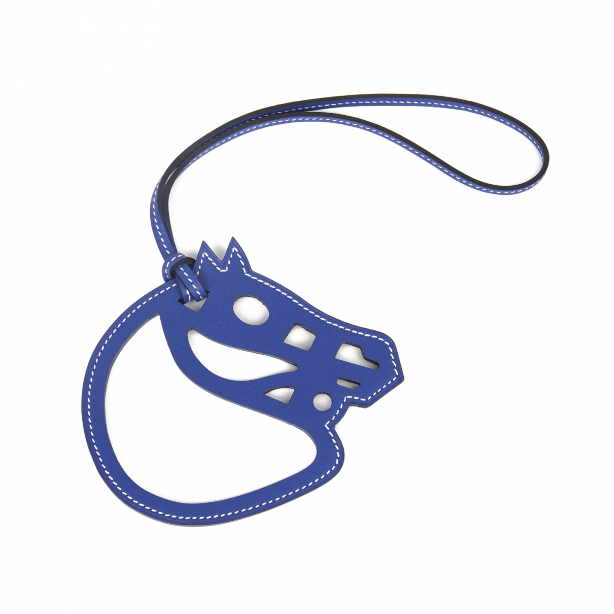 Hermes Paddock Taschenschmuck in  Blau Leder