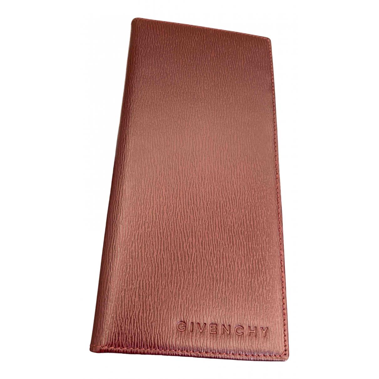 Givenchy - Petite maroquinerie   pour homme en cuir - bordeaux
