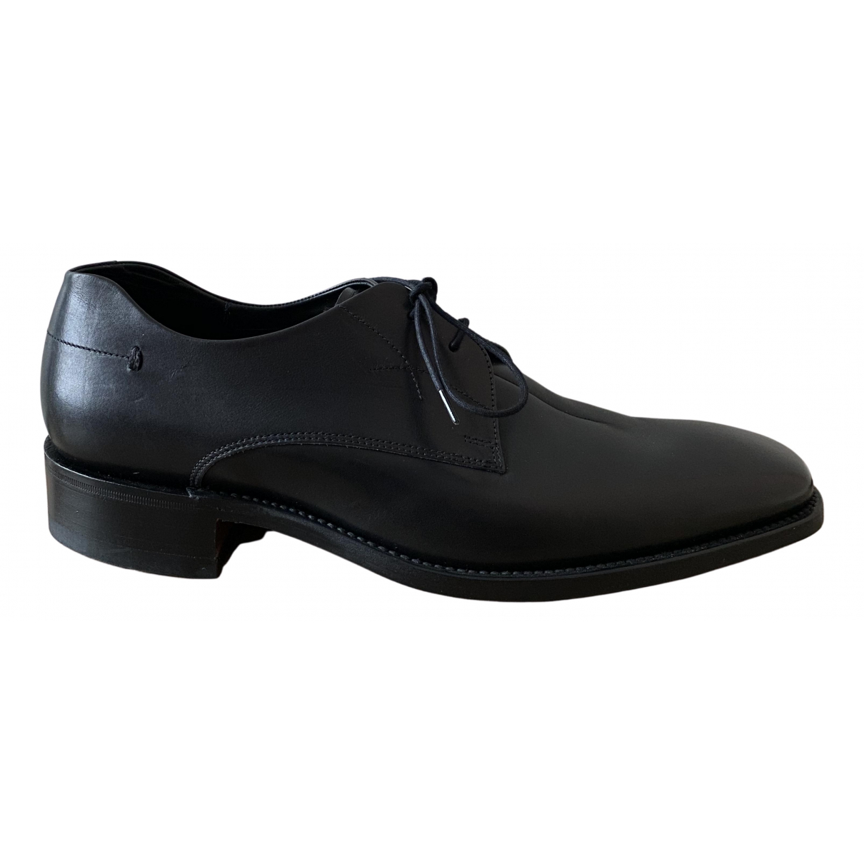 Loake \N Schnuerschuhe in  Schwarz Leder