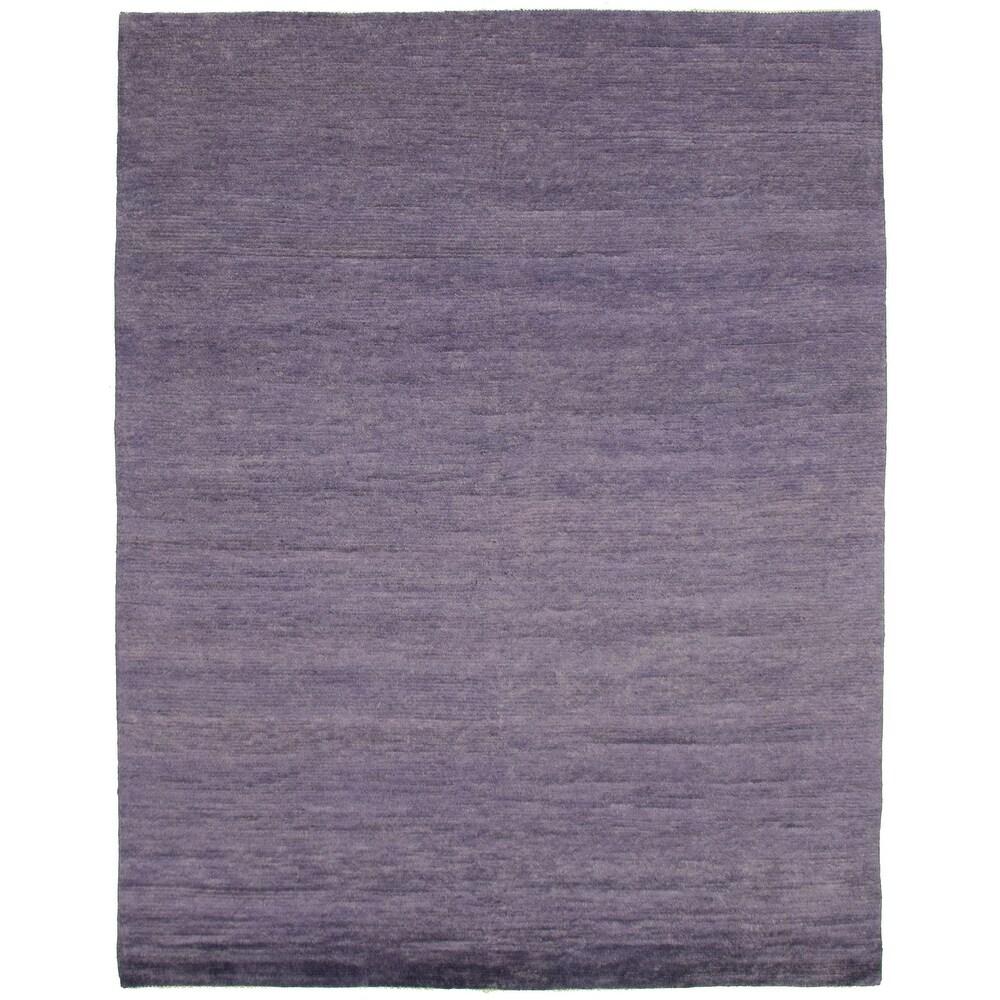 ECARPETGALLERY  Hand-knotted Pak Finest Gabbeh Indigo Wool Rug - 8'0 x 10'1 (Indigo - 8'0 x 10'1)