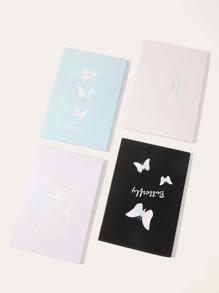 1pc Butterfly Print Random Foldable Mirror