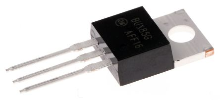 ON Semiconductor ON Semi BUX85G NPN Transistor, 2 A, 450 V, 3-Pin TO-220AB (2)
