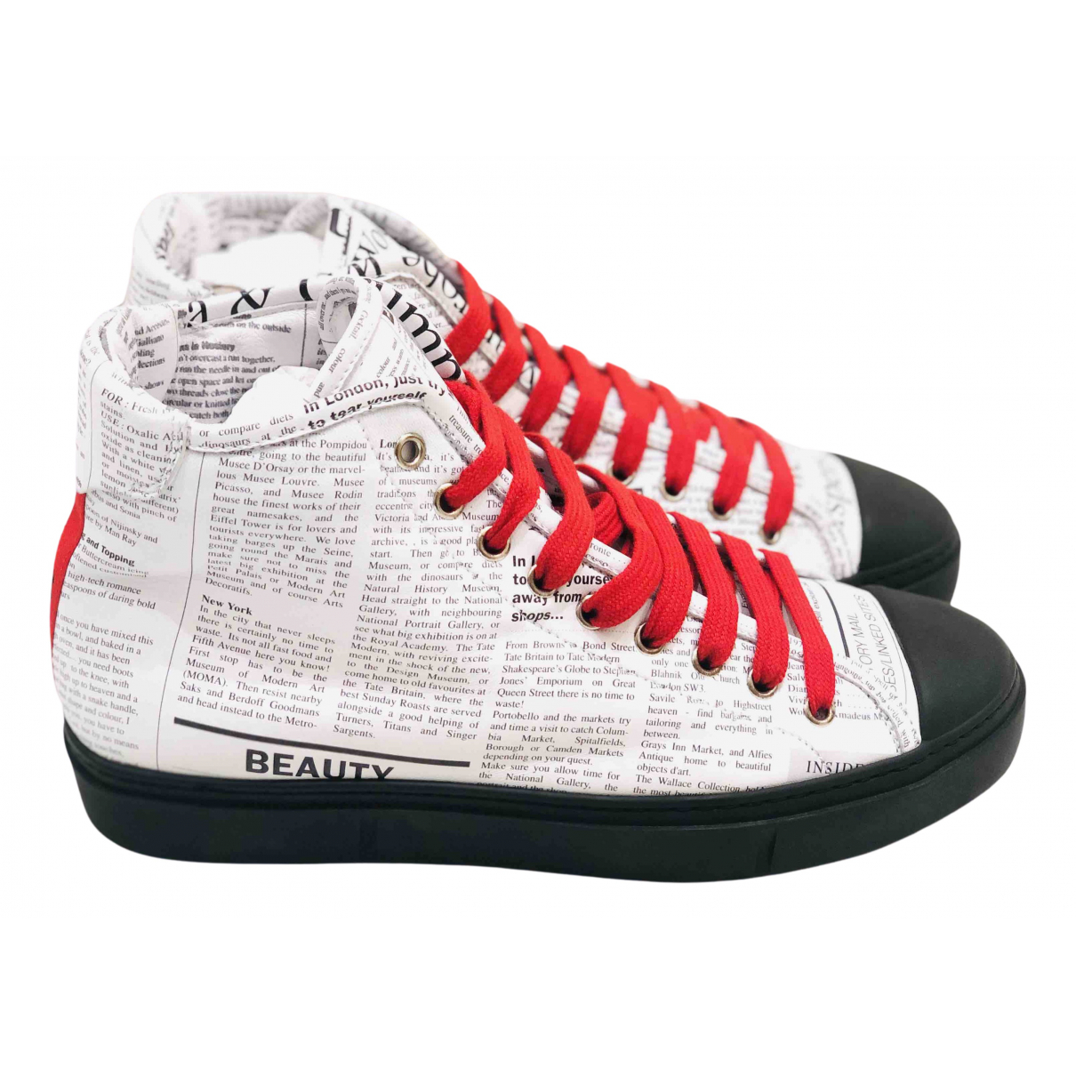 John Galliano N White Leather Trainers for Men 7 US