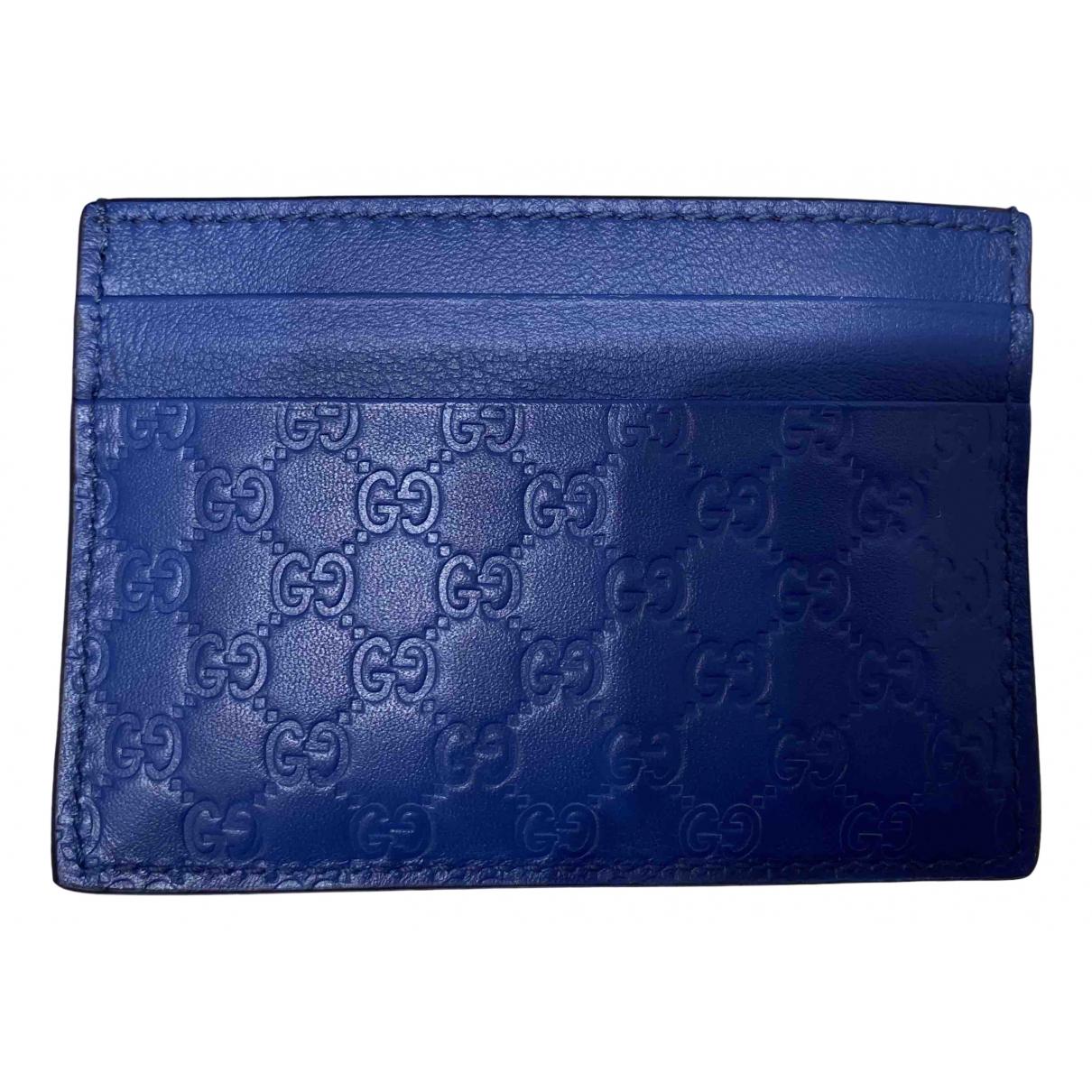 Gucci \N Kleinlederwaren in  Blau Leder