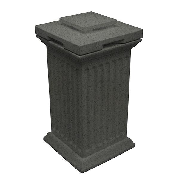 Good Ideas Savannah Column Storage and Waste Bin, 30 Gallon, Dark Granite