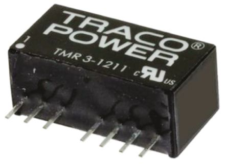 TRACOPOWER TMR 3HI 3W Isolated DC-DC Converter Through Hole, Voltage in 9 → 18 V dc, Voltage out 15V dc