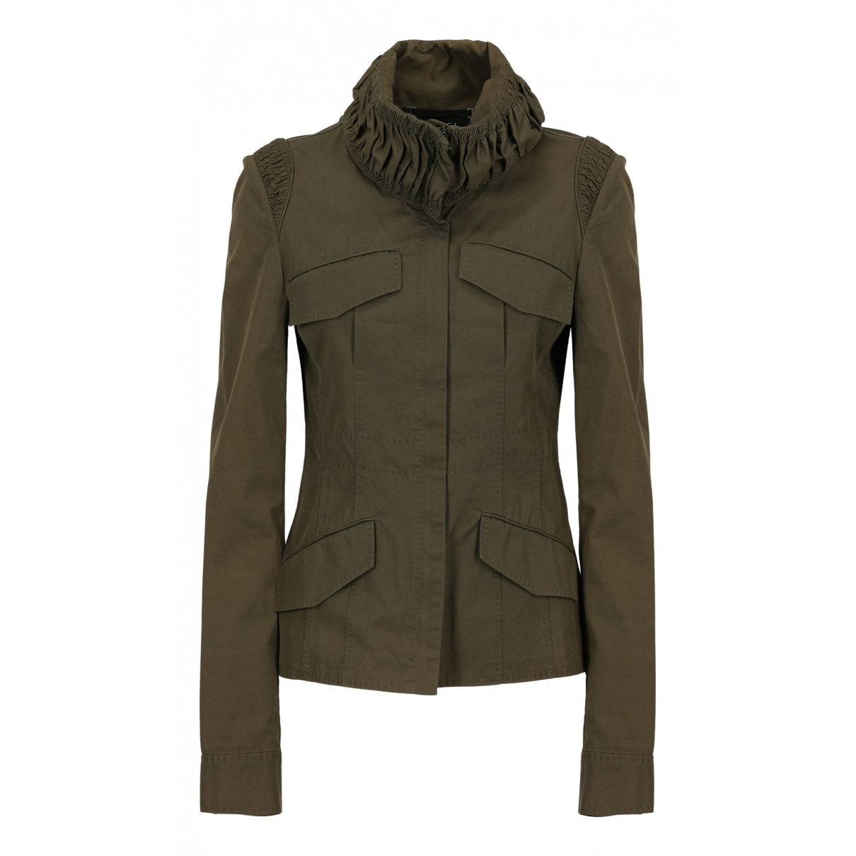 Gucci N Green Cotton jacket for Women 44 IT