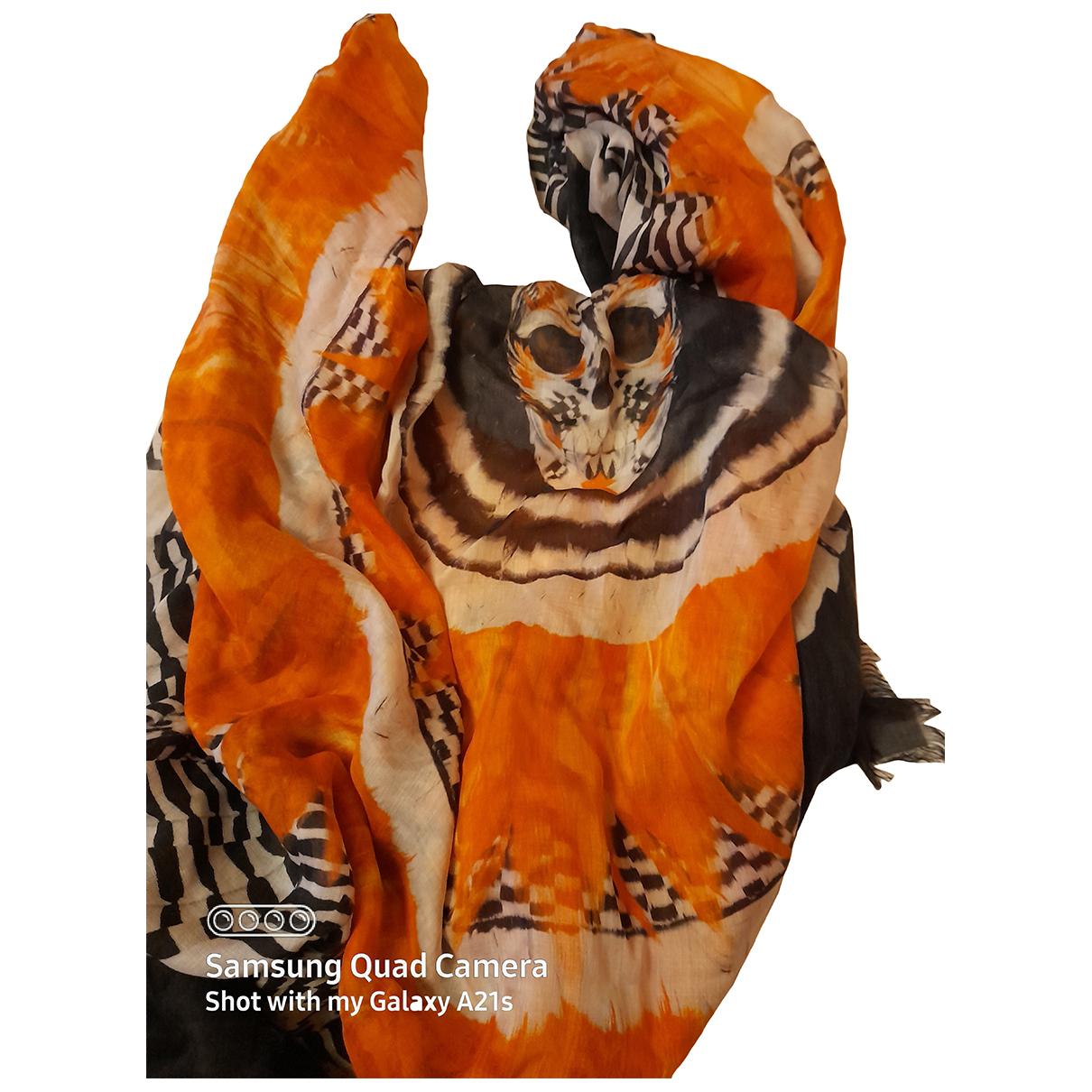 Alexander Mcqueen - Foulard   pour femme en soie - multicolore