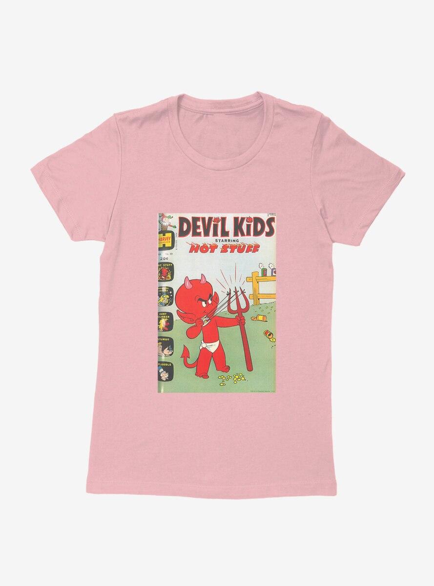 Hot Stuff The Little Devil Slingshot Comic Cover Womens T-Shirt