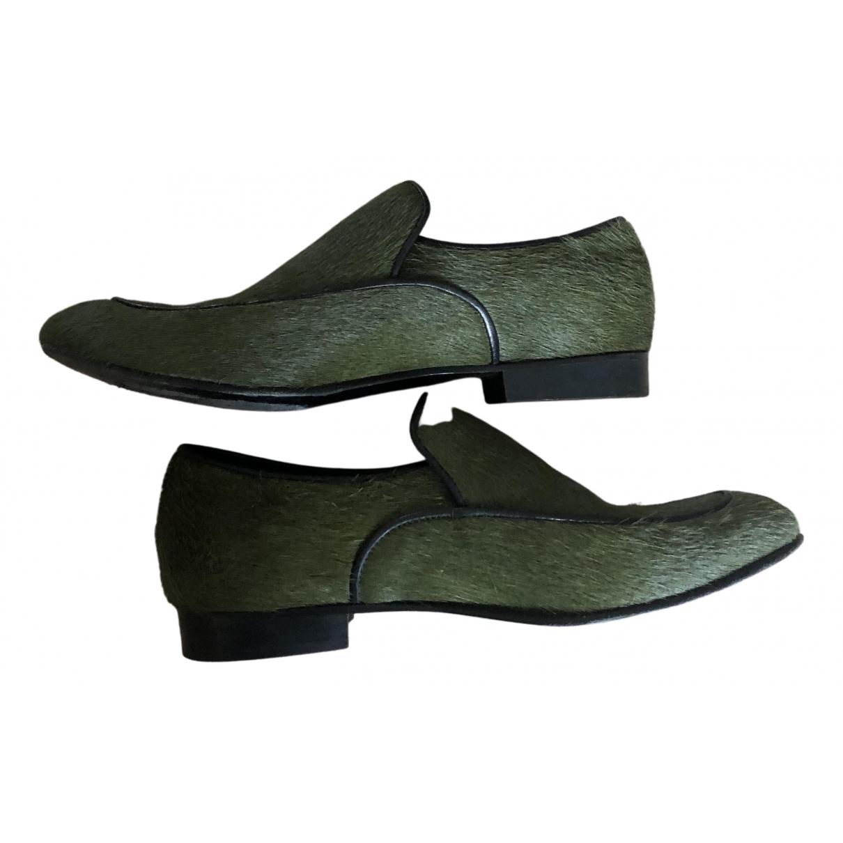 Roseanna N Green Pony-style calfskin Flats for Women 37 EU