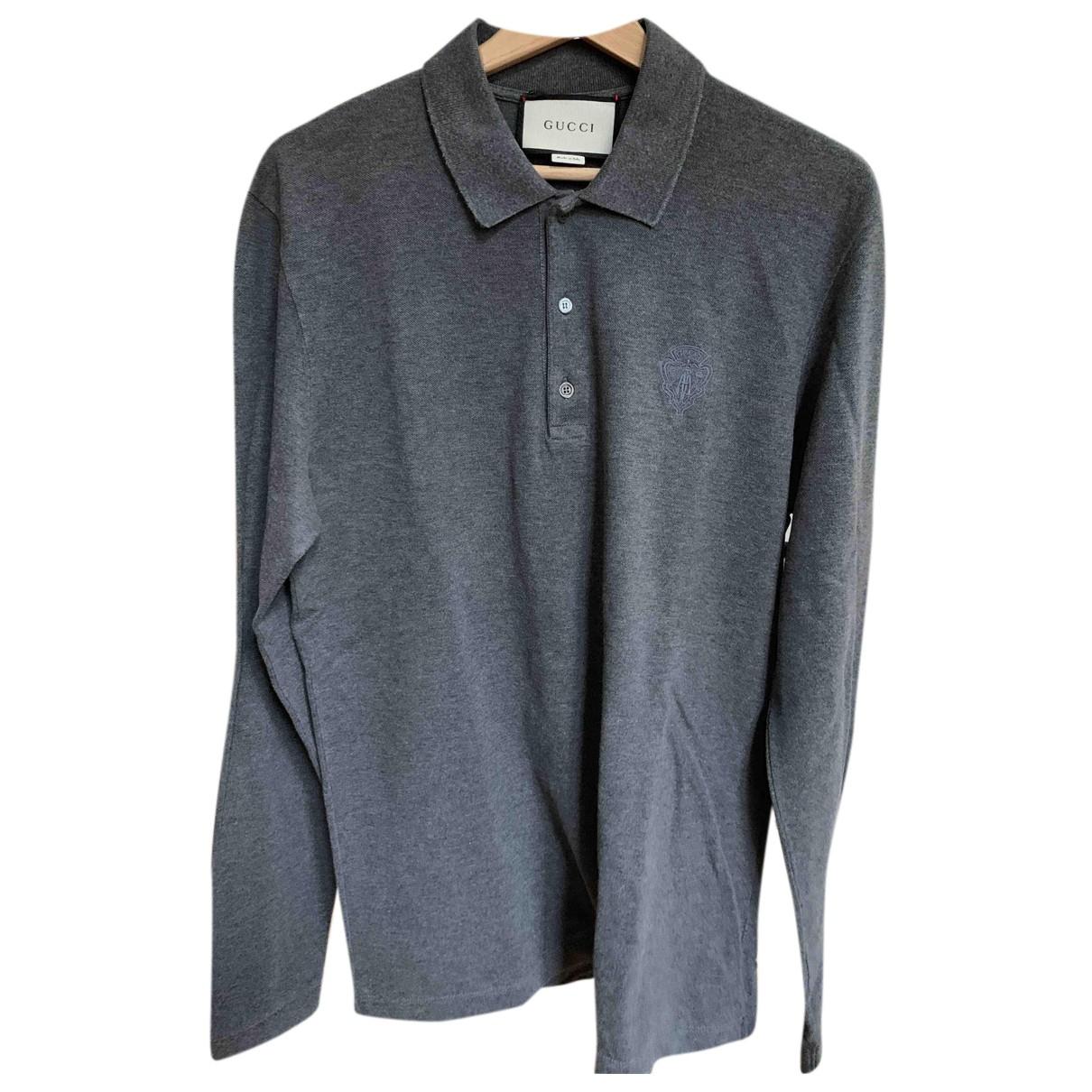 Gucci - Polos   pour homme en coton - gris