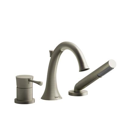 ED10BN-EX 3-Piece Deck Mount Tub Filler with Hand Shower Expansion Pex  in Brushed