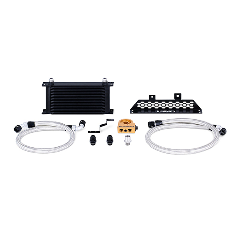 Mishimoto MMOC-FOST-13TBK Thermostatic Oil Cooler Kit (Black) Ford Focus ST 2013+
