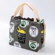 Cartoon Graphic Lunch Box Bag