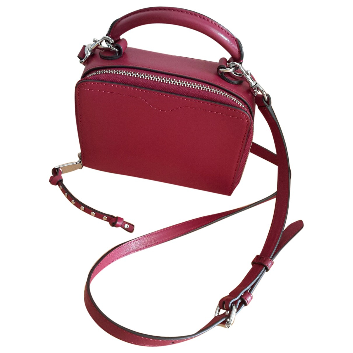 Rebecca Minkoff \N Handtasche in  Bordeauxrot Leder