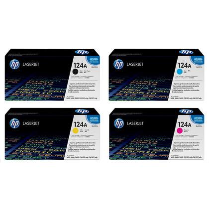 HP 124A Q6000A Q6001A Q6002A Q6003A Original Toner Cartridge Combo BK/C/M/Y