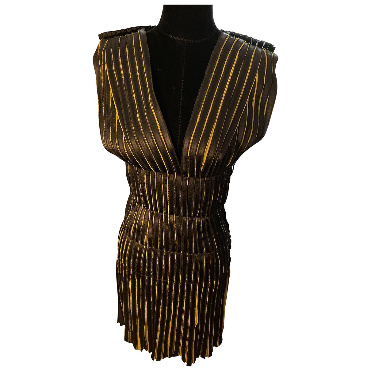 Lanvin \N Green Silk dress for Women 36 FR