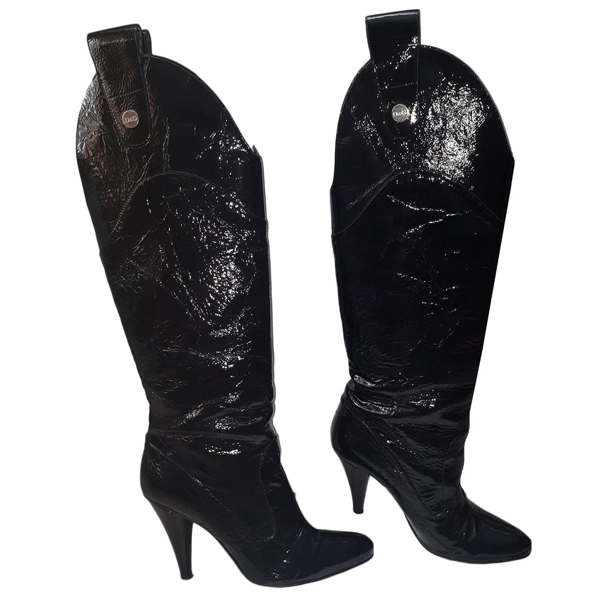D&g \N Stiefel in  Schwarz Lackleder