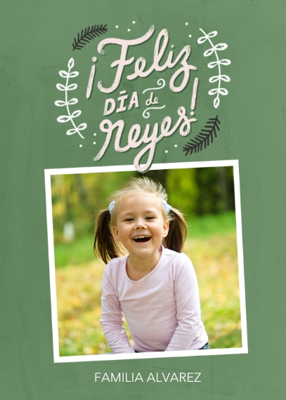 Holiday Photo Cards 5x7 Cards, Premium Cardstock 120lb with Rounded Corners, Card & Stationery -Feliz Dia De Reyes