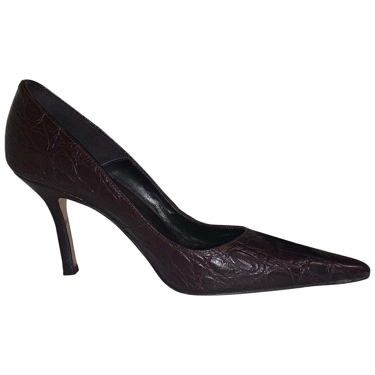Lk Bennett \N Brown Leather Heels for Women 39 EU