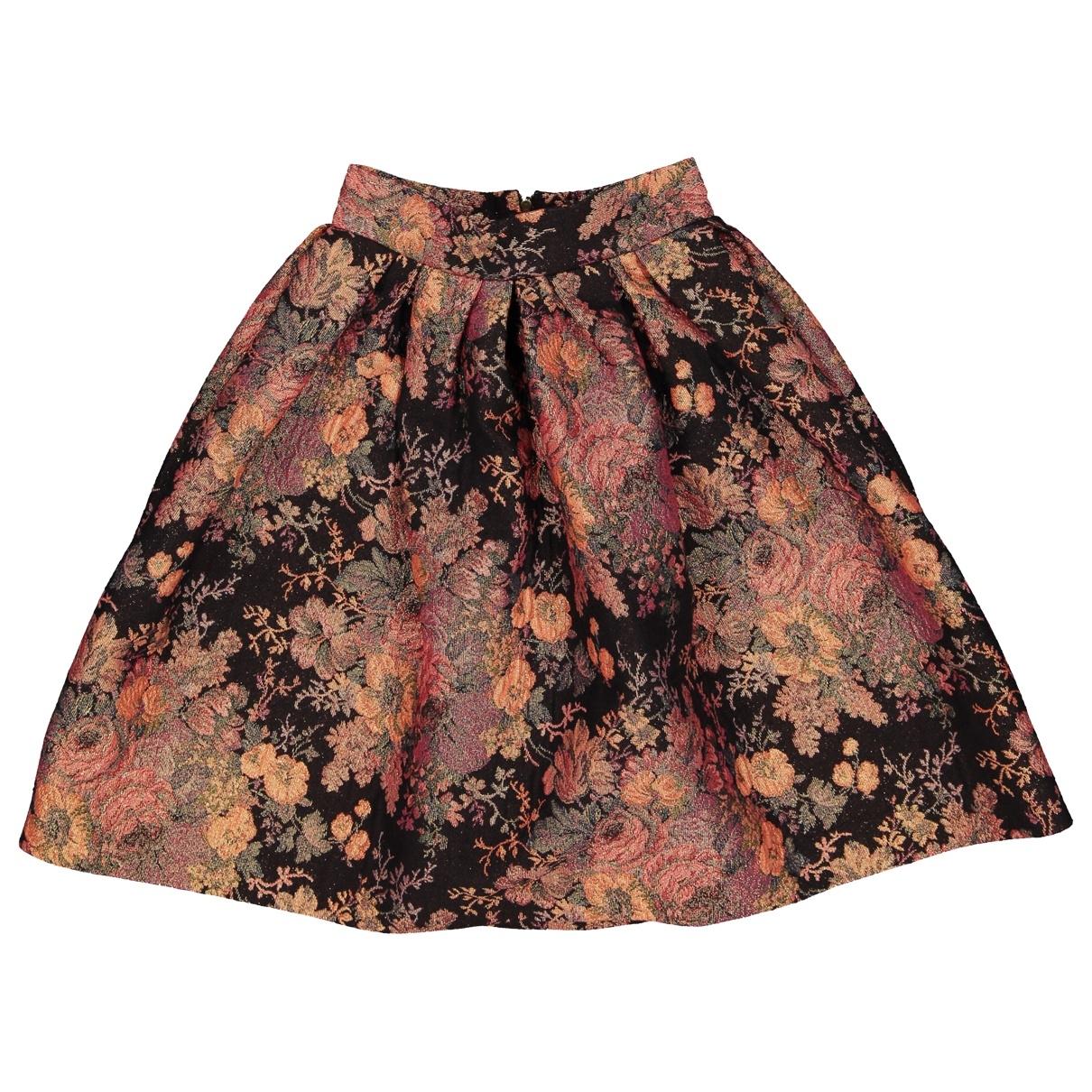 Maje \N Black Cotton skirt for Women 34 FR