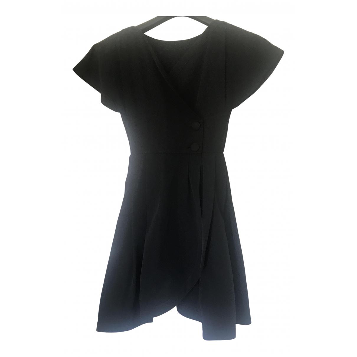 Karl Lagerfeld \N Kleid in  Schwarz Baumwolle