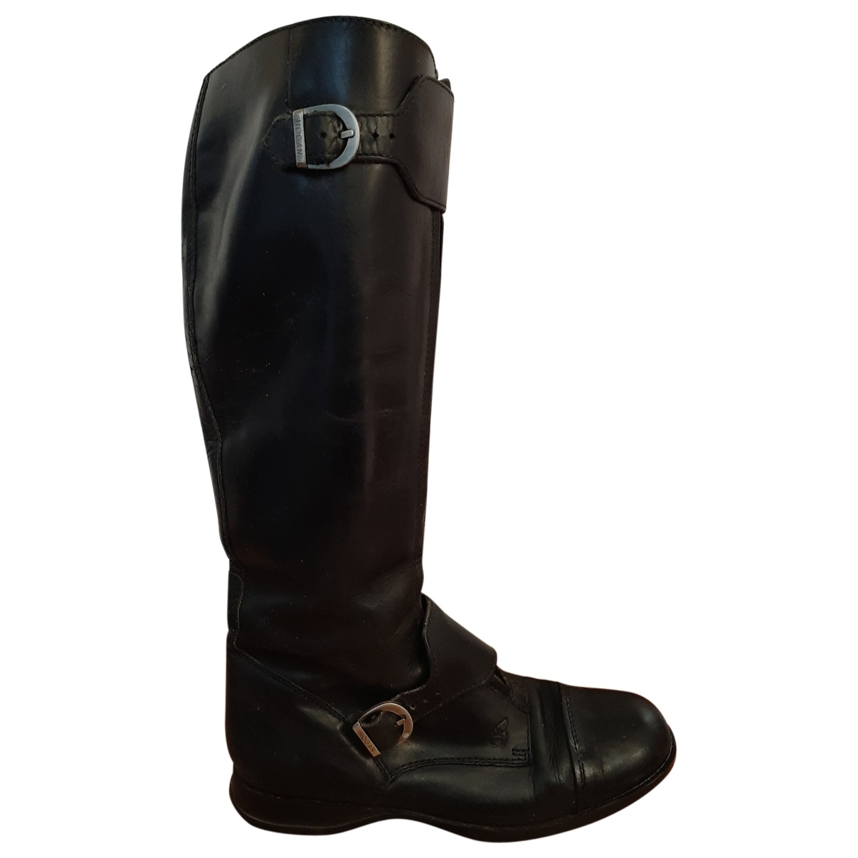 Hogan \N Black Leather Boots for Women 37.5 EU