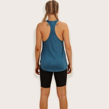 Racer Back Solid Sports Tank Top