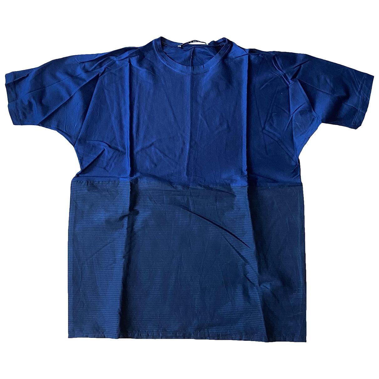 - Tee shirts   pour homme en coton - bleu