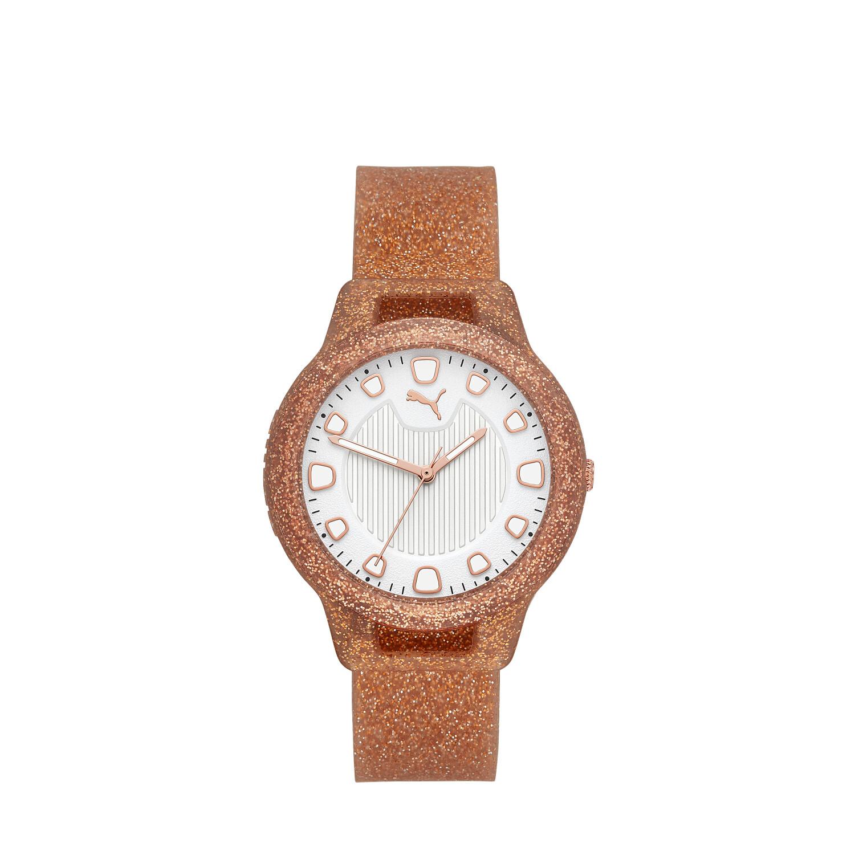 Puma Women's Reset P1002 Rose-Gold Silicone Quartz Fashion Watch