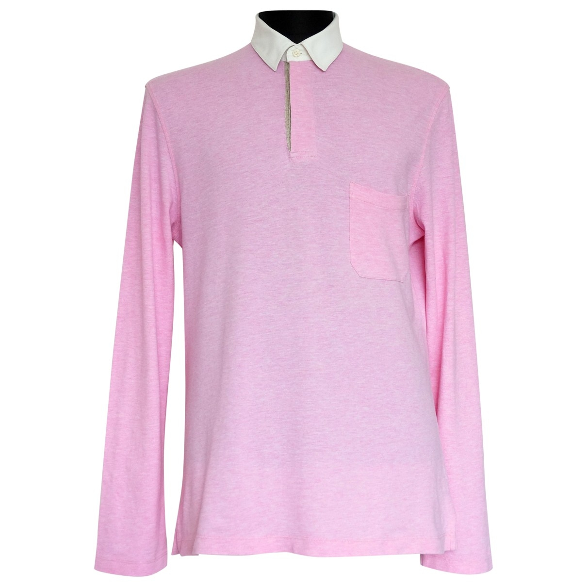Brunello Cucinelli \N Pink Cotton Polo shirts for Men M International