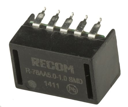 Recom Surface Mount Switching Regulator, 5V dc Output Voltage, 6.5 → 18V dc Input Voltage, 1A Output Current