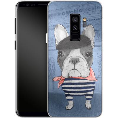 Samsung Galaxy S9 Plus Silikon Handyhuelle - French Bulldog with Arc de Triomphe von Barruf