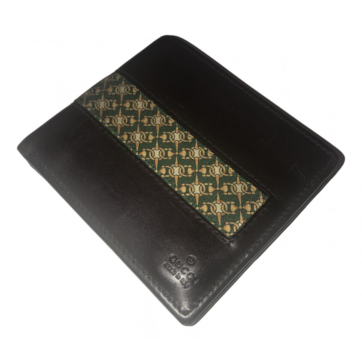 Gucci N Brown Leather Small bag, wallet & cases for Men N