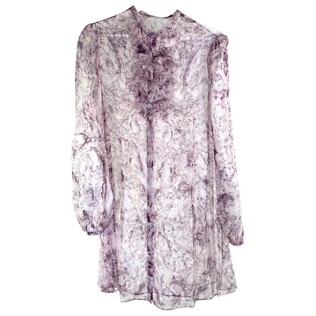 Alexander Mcqueen N Purple Silk  top for Women 40 FR