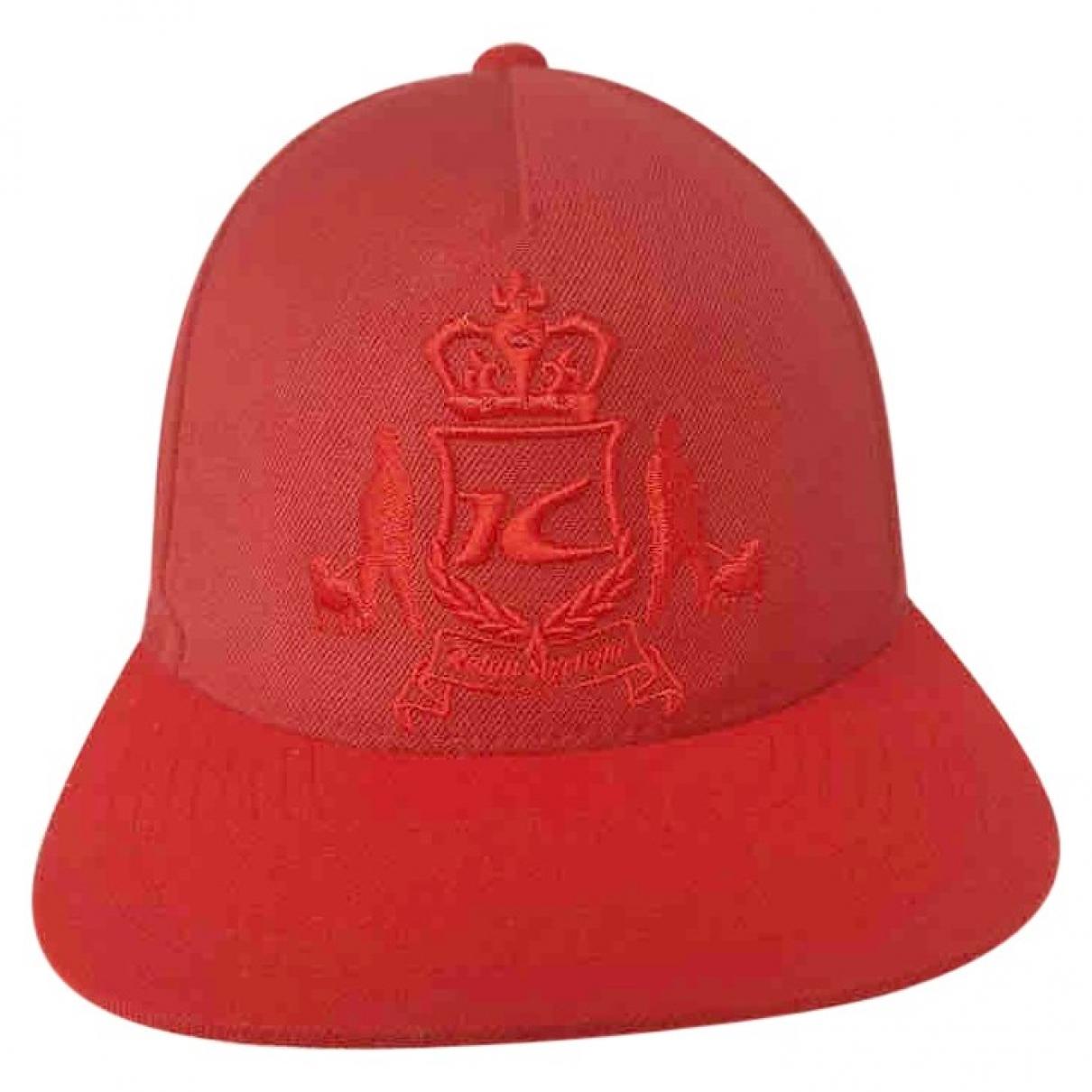 Supreme - Chapeau & Bonnets   pour homme en toile - rouge