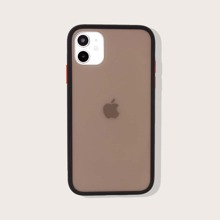 1pc Contrast Frame iPhone Case
