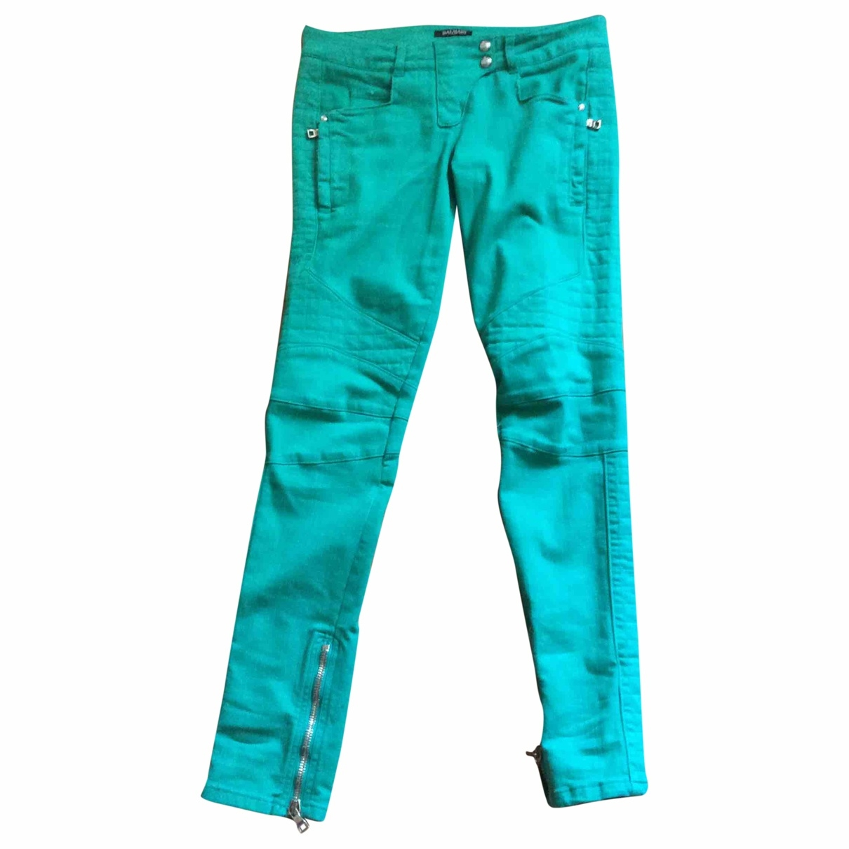 Balmain \N Green Denim - Jeans Trousers for Women L International
