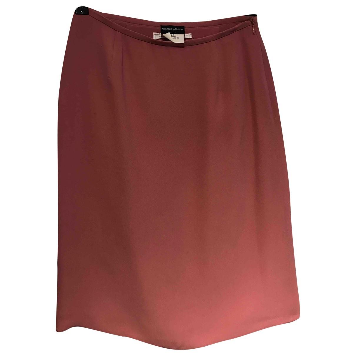Mini falda de Seda Giorgio Armani