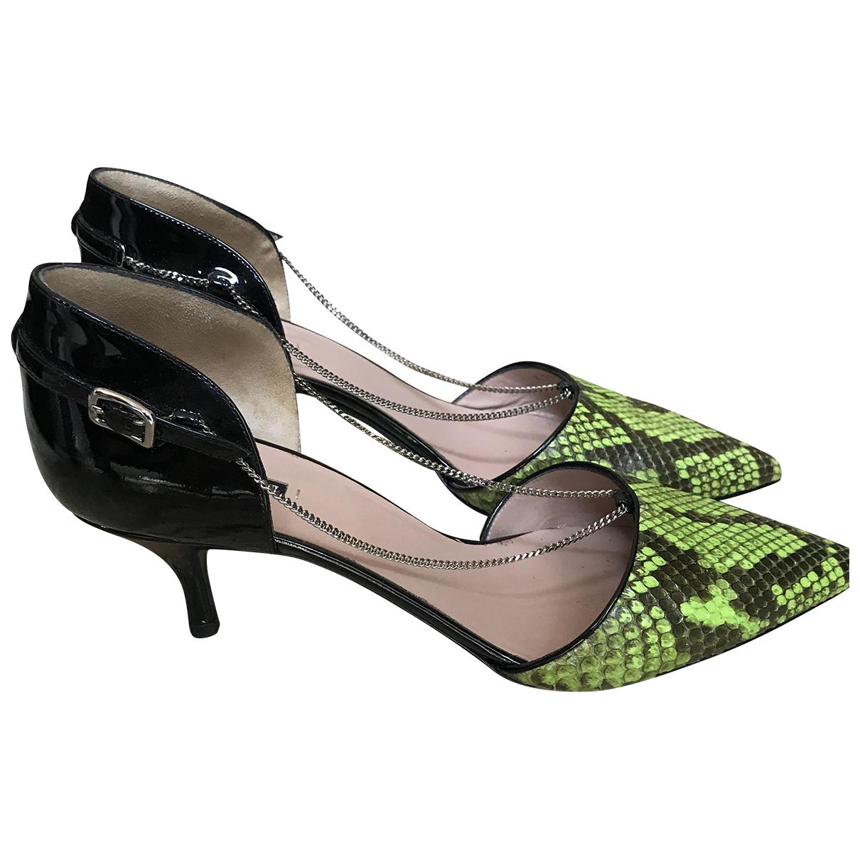 Giorgio Armani \N Green Python Heels for Women 38 EU