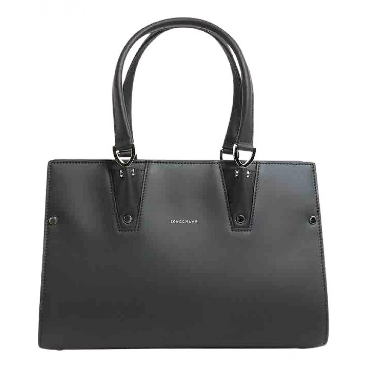 Longchamp \N Handtasche in  Schwarz Leder